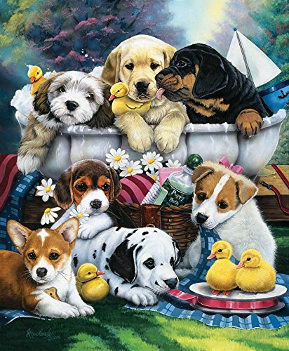 Bath Time Pups a 1000-Piece