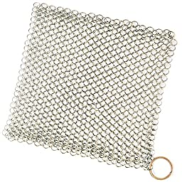 Cast Iron Cleaner XL 8x6 Inch Chainmail Scrubber By Iron Gallery Products