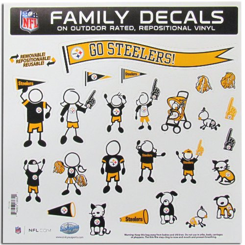 NFL Pittsburgh Steelers Large Family Decal Set at Steeler Mania
