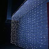 Waterproof 800PCS 8 Modes 8M x 3M LED Fairy String Lights Curtain Light For Christmas Xmas Wedding Halloween Party (8*3M Cold White)