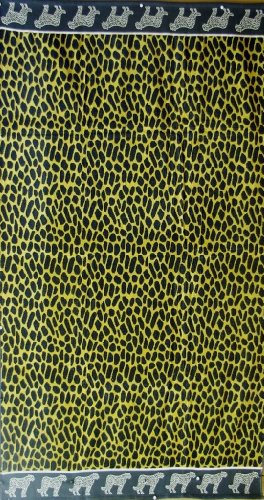 Egyptian Bedding Egyptian Cotton Jacquard Oversized Beach Towel Set, Leopard, Set of 2