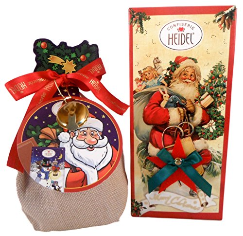 Confiserie Heidel Imported German Chocolate Bundle of 2 Items (Bar & Cartoon Sack)