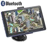 Xgody 886BT 7'' Capacitive Touchscreen Bluetooth Car Truck GPS Navigation 256MB RAM 8GB ROM SAT NAV System Navigator with Lifetime Maps