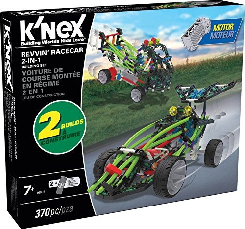 K'NEX - Revvin' Racecar 2-in-1 Building Set - 370 Pieces - Ages 7+ - Engineering Educational Toy (Car Building Set compare prices)