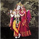 "Dolls Of India ""Radha Krishna - The Divine Lovers"" Reprint On Card Paper - Unframed (15.88 X 15.88 Centimeters..."