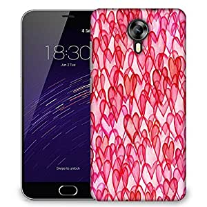 Snoogg Small Stars Black Designer Protective Phone Back Case Cover For Meizu M2