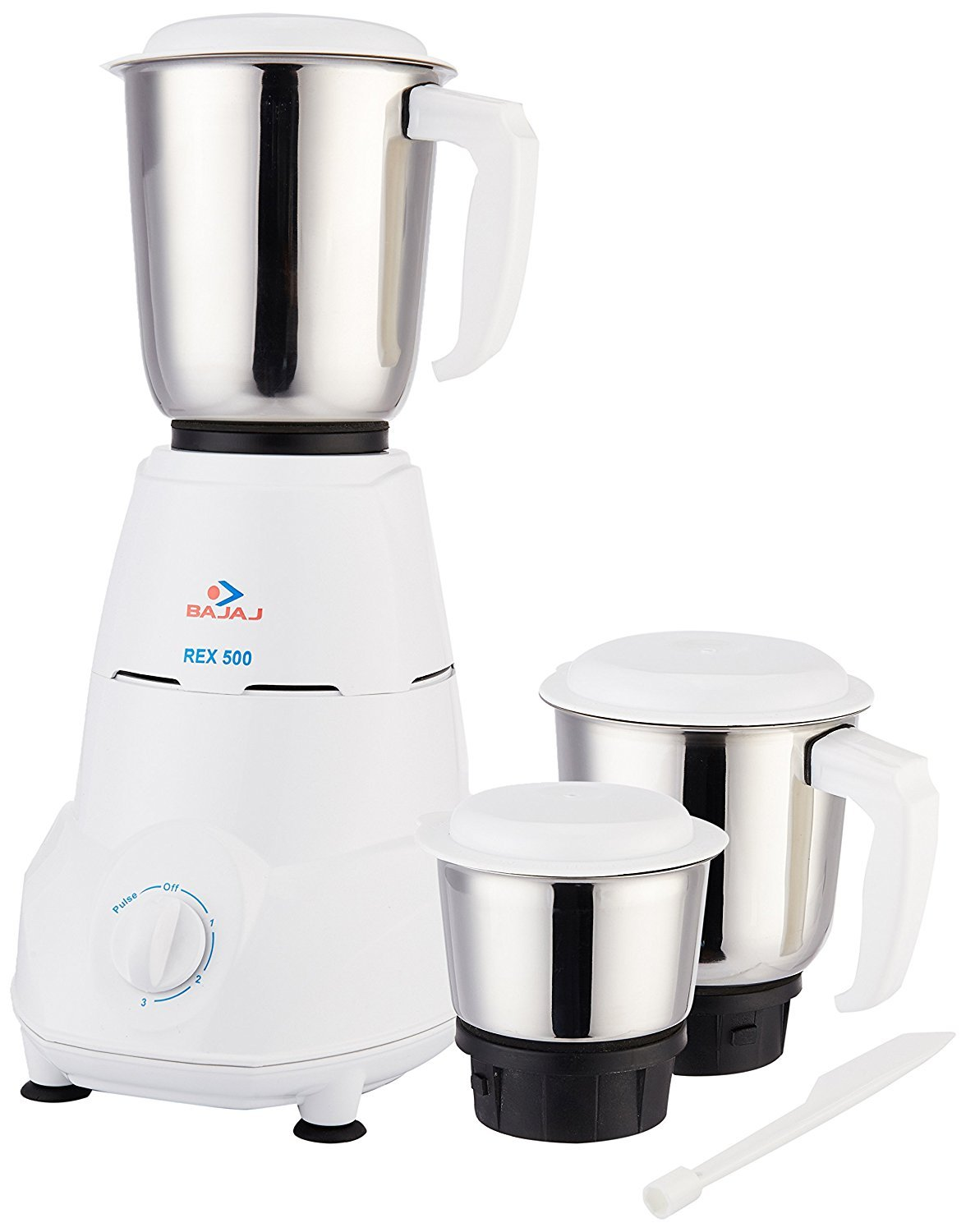 Uncategorized Kitchen Appliances Mixers buy bajaj rex 500 watt mixer grinder with 3 jars white online at low prices in india amazon in