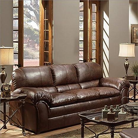 Simmons Upholstery 6152 Geneva Sofa Mahogany