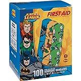 """Justice League 100CT Bandages 3/4x3"""", DC Comics Offficial (Batman, Green Lantern, Aquaman)"""