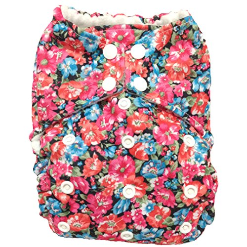 "All In One (AIO) One Size Cloth Diaper ""Garden Grow"" - 1"