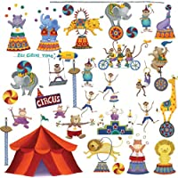 RoomMates RMK1266SCS Big Top Circus Wall Decals