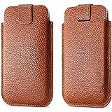 iPhone 6/6S 4,7 caso, BELK---Cuero de lujo Natural] piel auténtica calidad antidesizantes magmle // / bolsa blanda con lengüeta/para Apple iPhone 6/6S caso (especialmente - Calidad Premium fabricados), piel, marrón - marrón, iPhone 6/6s case 4.7
