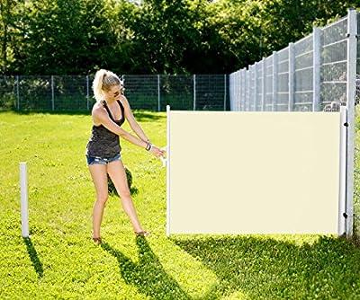 Royal Gardineer Seitenmarkise 120x200cm für Garten, Balkon & Terrasse, beige von Royal Gardineer auf Gartenmöbel von Du und Dein Garten