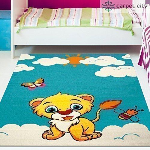 Kinder Teppich Moda Öko Tex Giraffe rot gelb verschiedene