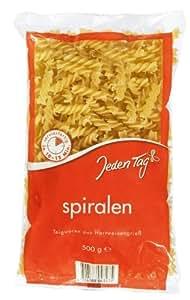 Jeden Tag Spiralen/Fusilli Hartweizen-Nudeln, 9-er Pack (9 x 500 g)