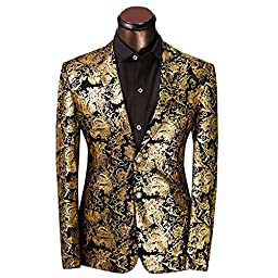 Men\'s luxury Casual Dress Suit Slim Fit Stylish Blazer Coats Jackets