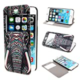 TUTUWEN View Window Painting Art Tribal Style Design PU Leather Flip StCase Cover for Apple iPhone 6 47 inch iPhone Air