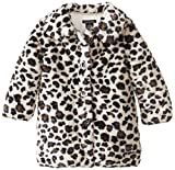 Calvin Klein Little Girls'  Animal Print Faux Fur Coat by NYC Leather Factory Outlet