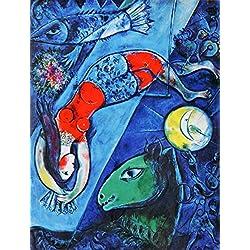アートショップ フォームス マルク・シャガール「青いサーカス」
