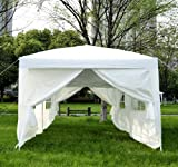 6m x 3m Garden Heavy Duty Pop Up Gazebo Marquee Party Tent Wedding Canopy (White) With free Storage Bag