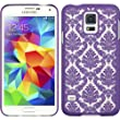 Thousand Eight(TM) Samsung Galaxy S5 Design Slim and stylish profile CRYSTAL RUBBER CASE + [FREE LCD Screen Protector Shield(Ultra Clear)+Touch Screen Stylus] (CRYSTAL PURPLE)