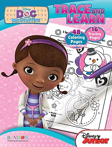 Disney Doc Mcstuffins Trace and Learn 48 Coloring Pages and 16 Tracing Pages