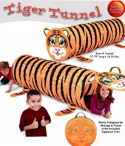 Kids Play Indoor/outdoor Tiger Design Tunnel Tent by Always Under günstig online kaufen