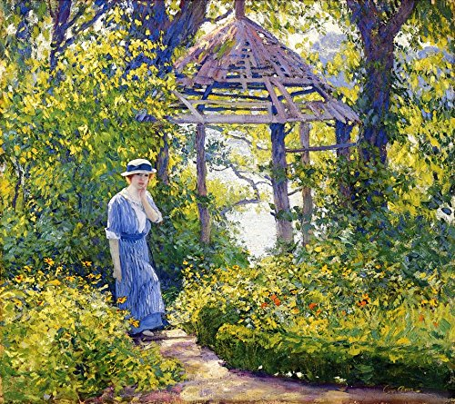 Canvas Print - 20 x 18 inch Post-Impressionism Other - Girl in a Wickford Garden, New England - by Guy Orlando Rose