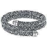 Swarovski Crystaldust Bangle Double, Gray, S 5255898