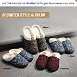 ULTRAIDEAS Women's Comfort Memory Foam Slippers Wool-Like Plush Fleece Lined House Shoes w/Indoor, Outdoor Anti-Skid Rubber Sole
