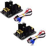 HiLetgo 2pcs 3D Printer Accessories 30A Mos Tube Heat Bed Power Module Expansion Board High Current Load Module Mos Tube Hotend Replacement with Cables for 3D Printer (Color: Black, Tamaño: Small)