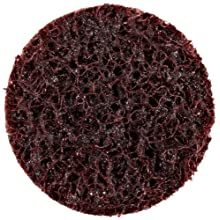 "Scotch-Brite Roloc Surface Conditioning Disc TR, Aluminum Oxide, 1"" Diameter, A Medium Grit (Pack of 200)"