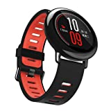 Alonea 22mm Replacement Silicone Sports Strap Band For Xiaomi HUAMI AMAZFIT Smart Watch (Red) (Color: Red, Tamaño: One Size)