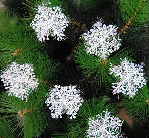 (ビグッド)Bigood クリスマス パーティー 飾り キッチン オーナメント ツリー用品 60個セット クリスマス ツリー 飾り 雪の結晶 スノーフレーク インテリリア 雑貨