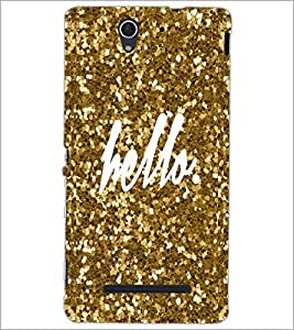 PrintDhaba Hello D-1105 Back Case Cover for SONY XPERIA C3 (Multi-Coloured)