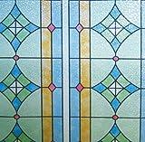 LINEA Fix Dekorfolie statische Fensterfolie GE-4603 Bleiglas Look Größenwahl: 0.46m x 0.50 m