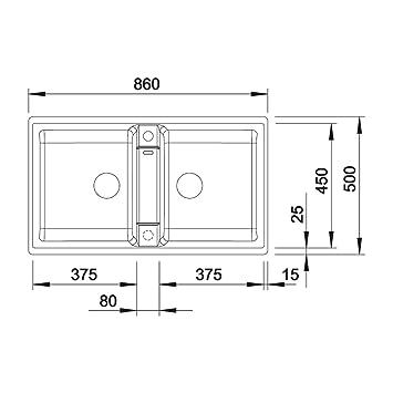 blanco zia 9 silgranit puradur ii sp le felsgrau becken reversibel f r 90 cm unterschrank grau. Black Bedroom Furniture Sets. Home Design Ideas
