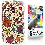 CaseiLike � Floral Bl�te, Snap-on wieder Geh�use f�r Samsung Galaxy S3 Mini i8190 mit Displayschutzfolie 1pcs.