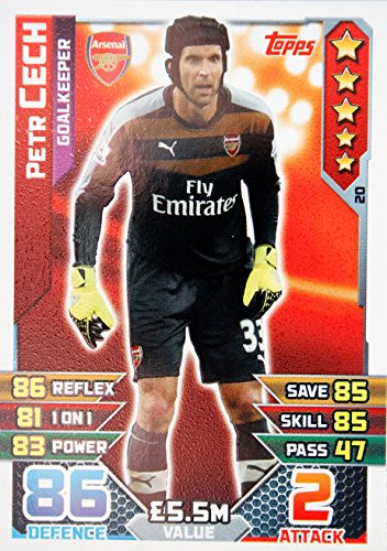MATCH ATTAX 15/20 20 (DE) 16> ARSENAL PETR CECH> Nummer 20