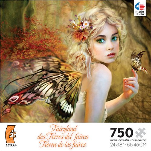 Fairyland: Touch of Gold - 750 Piece Jigsaw Puzzle by Ceaco - 1