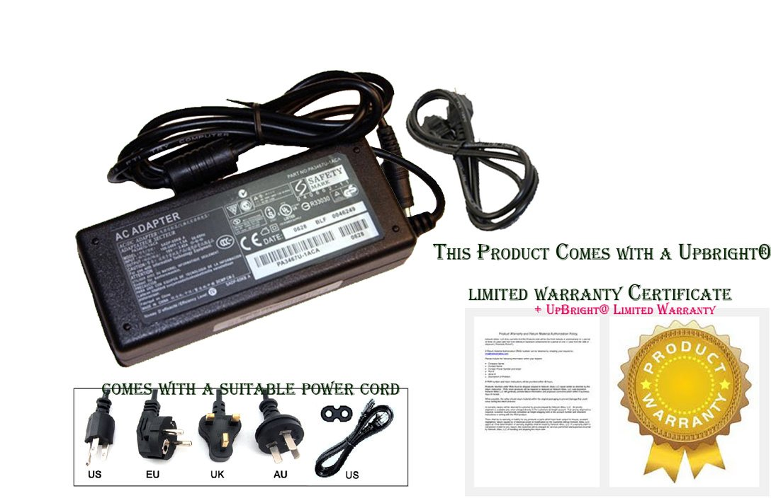 UpBright® NEW AC/DC Adapter For Epson WorkForce DS-510 DS510 Sheetfed Scanner B11B209201 Power Supply Cord Cable Chagrer Mains PSU