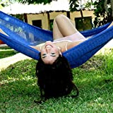 Hammocks Rada - Handmade Yucatan Hammock - Single Size Navy Blue Color - True Comfort, True Quality, World's Best Handmade Hammock- 100% No-Hassle Satisfaction Guarantee
