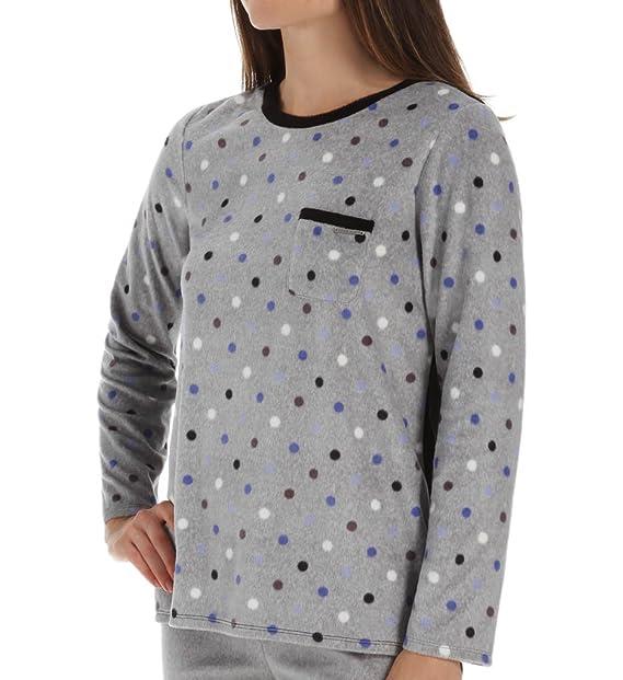 Anne Klein Bundle Up Long Sleeve Micro Fleece Top