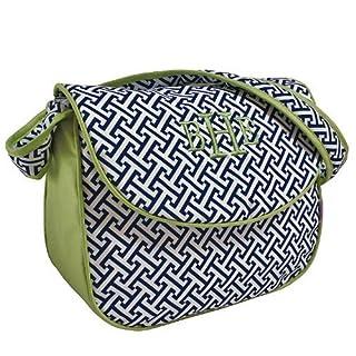 Hoohobbers Messenger Diaper Bag, Maze Blue