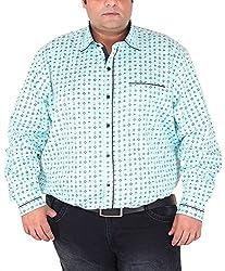 Xmex Men's Cotton Shirt (KR-359SKY, Light Blue, XX-Large)