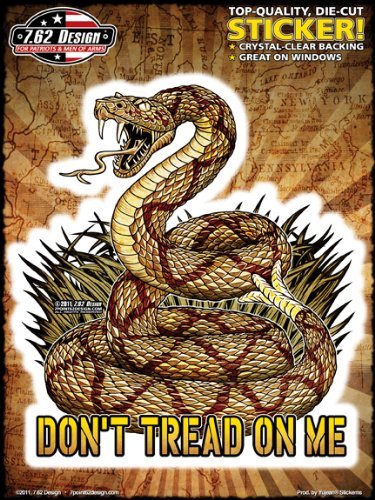 (6x8) Modern Don't Tread On Me Sticker