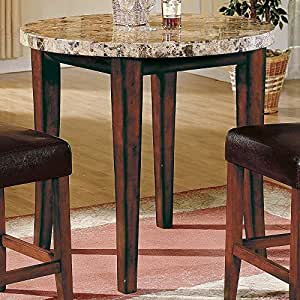 ... Counter Height Round Pub/Dining Table Marble: Amazon.co.uk: Kitchen