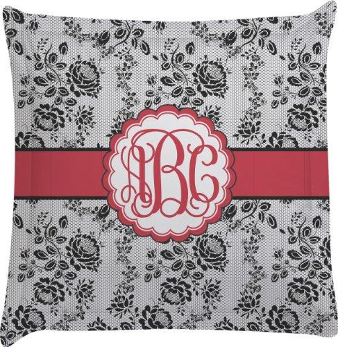 Black Lace Personalized Euro Sham Pillow Case front-987340