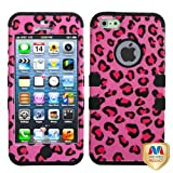 MYBAT IPHONE5HPCTUFFIM005NP Premium TUFF Case for iPhone 5 - 1 Pack - Retail Packaging - Pink Leopard/Black