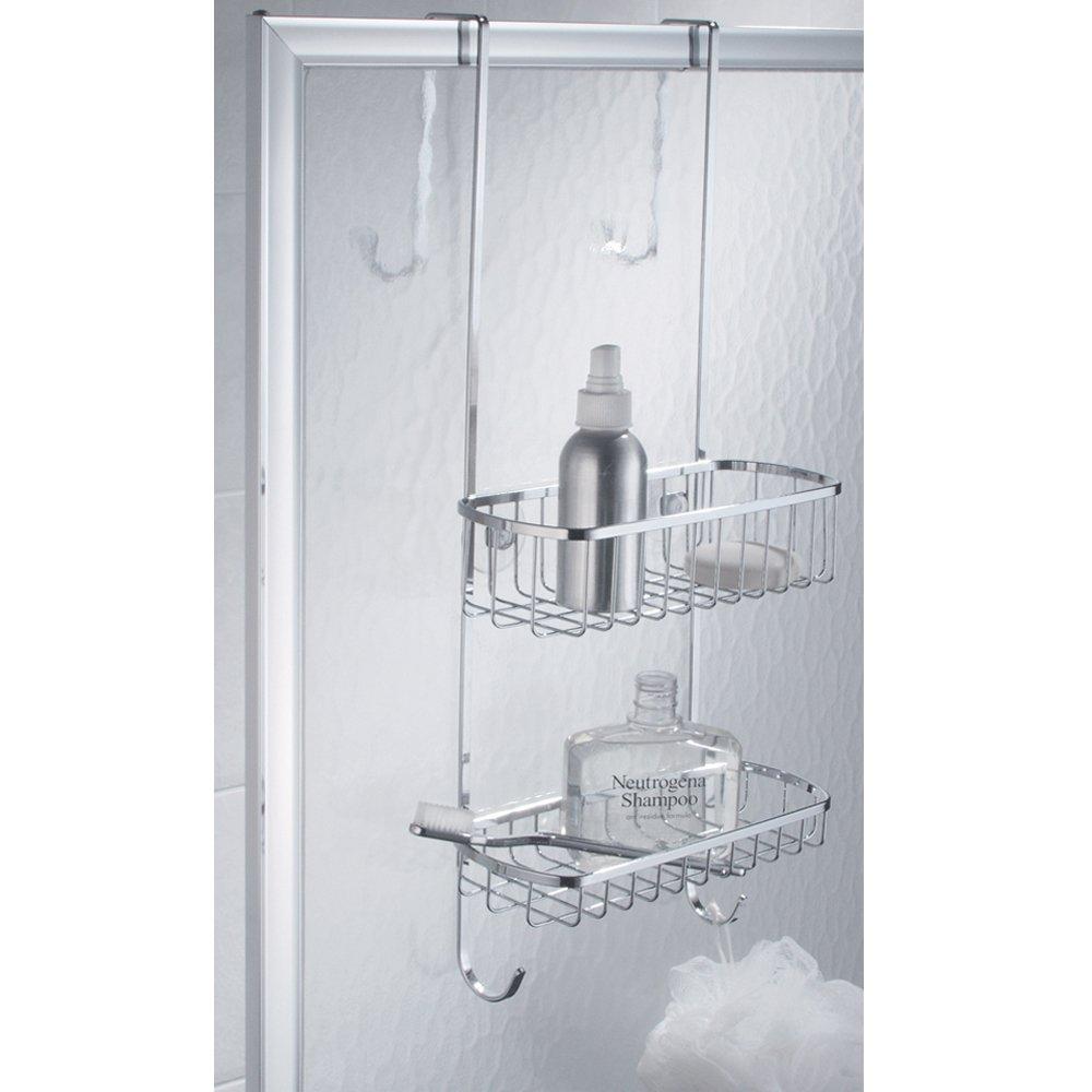 interdesign portaoggetti doccia in acciaio inox per porte ebay. Black Bedroom Furniture Sets. Home Design Ideas